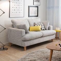 [리바트 이즈마인] 듀엣 모노 2인 패브릭소파(라이트그레이) Decor Interior Design, Interior Design Living Room, Furniture Design, Interior Decorating, Room Interior, Decorating Ideas, Nordic Lights, Home Decor Bedroom, Luxury Homes