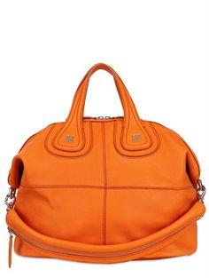 Givenchy - Orange Medium Nightingale Chic Leather Bag - Lyst 8c4ed3378fb77