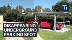 Disappearing underground parking spot
