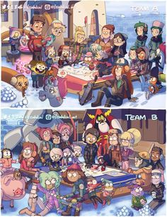 Crossovers De Disney, Cartoon Crossovers, Arte Disney, Disney Fan Art, Cartoon Shows, Cartoon Art, Cn Fanart, Image Pinterest, Desenhos Gravity Falls