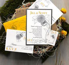 Vintage Yellow  Boho Invitations Yellow by BeaconLane, $6.00