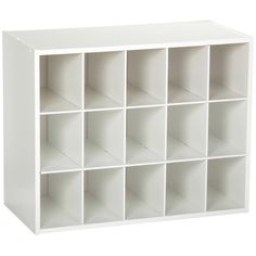 15-Cubby Stackable Shoe Rack Organizer Shelves in White Wood Finish – Hearts Attic