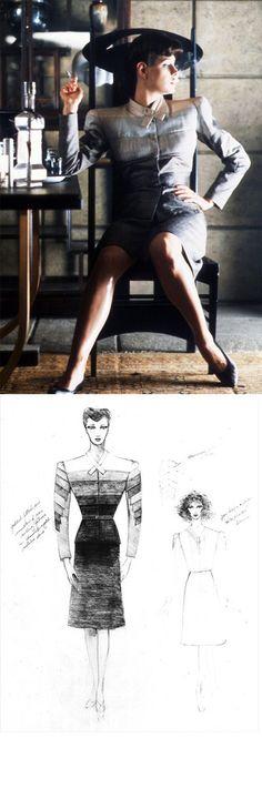 Costume Rendering for Rachael in 'Blade Runner' (1982) by Michael Kaplan