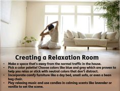 Take some time and allow yourself to #relax! Here are easy ways to create a #relaxation room