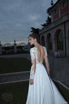 berta bridal winter 2014 wedding dress long illusion sleeves back