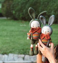 Crochet Bear Patterns, Crochet Animal Amigurumi, Amigurumi Toys, Crochet Animals, Pet Toys, Bunnies, Kawaii, Dolls, Christmas Ornaments