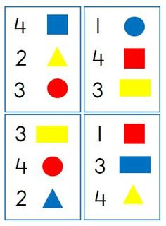 I love this printable; can be used in sorting. the directions appear to be in Dutch but the download is just numbers and shapes.