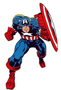 "Captain America by the legendary Jack ""King"" Kirby"