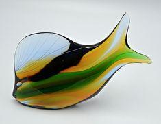 Exbor Czechoslovakia Glass Fish (Chipped)
