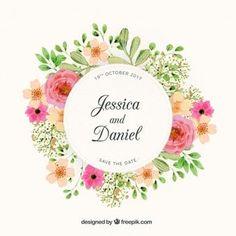 Design de casamento floral de grinalda