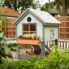 If raising chickens is an aspiration of yours, house your flock in this cute chicken coop. Download the plans and learn more from the link below.