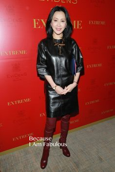 Fabulously Spotted: Carina Lau Wearing Céline - Evidens de Beaute Event In Hong Kong - http://www.becauseiamfabulous.com/2013/12/carina-lau-wearing-celine-evidens-de-beaute-event-in-hong-kong/