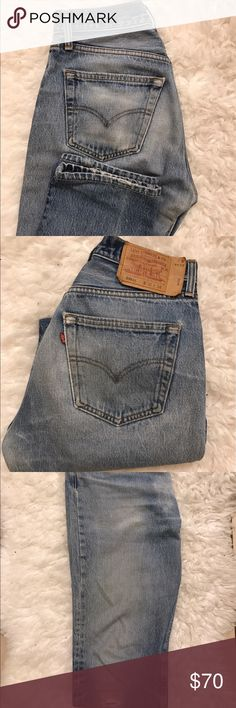 Vintage Levi's Vintage Levi's purchased from What Goes Around Comes Around in New York City. Had the waist taken in. Fits like a 28. Levi's Jeans Straight Leg