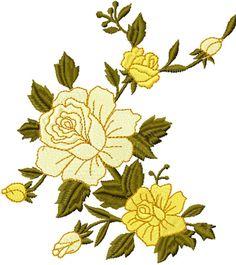 Free Yellow corner machine embroidery design