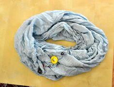 DIY button infinity scarf
