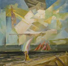 Scarlet Sails [Cubism-A306] - $500.00 painting by oilpaintingsartmaker.com
