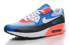 Pas cher France Nike Air Max 90 Lunar90 Chaussures Homme Blanche Bleu Noir Orange Achat