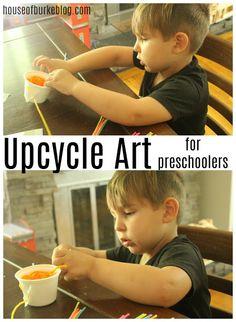 House of Burke: Upcycle Art for Preschoolers Preschool Classroom, Preschool Art, Art Activities For Kids, Preschool Activities, Mother Goose Time, Importance Of Art, Tot School, Business For Kids, Early Childhood
