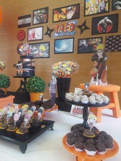 Ficha Técnica: Projeto de decoração: Atelier Dani Simões Di... 13th Birthday Parties, 11th Birthday, Birthday Party Themes, Naruto Party Ideas, Naruto Birthday, Anime Cake, Little Man Birthday, Festa Toy Story, Party Organization