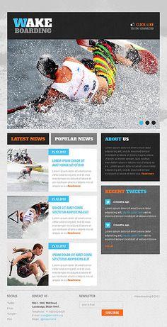 Wakeboarding Facebook Template #sport #layout http://www.templatemonster.com/facebook-templates/41498.html?utm_source=pinterest&utm_medium=timeline&utm_campaign=wake