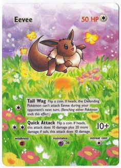 Hand Painted Extended Art Pokemon TCG - Eevee (Jungle) I think I may need to take a stab on painting on some of my extra cards...