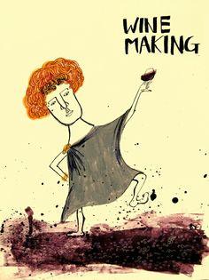 와인을 만들자! 와인을 만들자! 꾹꾹 밟아 와인을 만들자! ㅋㅋㅋ  #winemaking #와인만들기 #바쿠스 #디오니소스 #bacchus #dionysos #wine #mongcha #몽차 #아크릴화 #illustration #acrylic #일러스트레이션