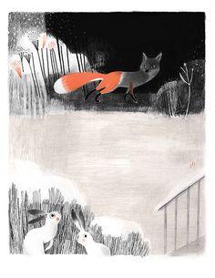 """Renard et Lievres"" by Isabelle Arsenault"