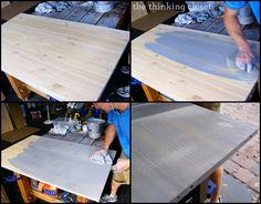 blue-gray paint on wood IKEA Hack: FJELL Wardrobe | The Thinking Closet