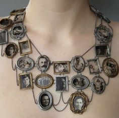 Reminds me of a necklace Gwen Stefani wore by Graziano for one of her album covers. Tre cool in a steampunky kinda way