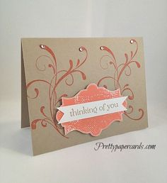Easy and Quick Thinking of You by Pretty Paper Cards - Cards and Paper Crafts at Splitcoaststampers