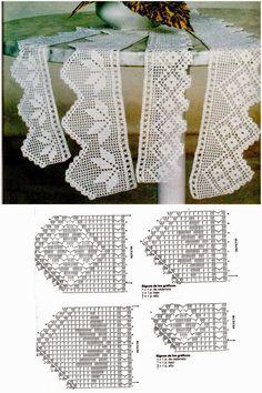 Crochê Tricô - Gráficos: Barrados Lindos - like the ones my granny made for my bathroom towels!