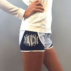 Monogram Sports Shorts/// color: mint // size: medium // monogram: AMJ