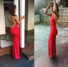 Charming Sexy Backless Prom Dress ,Floor length Sleeveless  www.electricturtles.com/collections