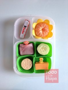 Lunchable Orange in an @EasyLunchboxes container. #foodforharper #bento