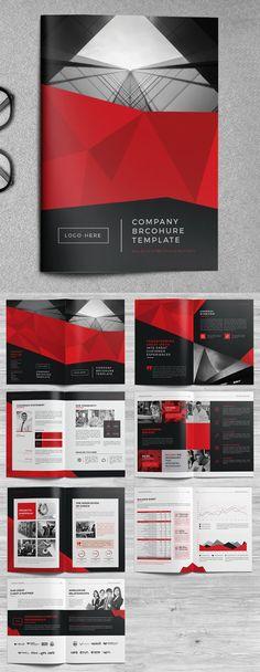 Company Brochure Template Company Profile Design Templates, Company Brochure Design, Brochure Design Layouts, Corporate Brochure Design, Business Brochure, Brochure Template, Brochure Ideas, Catalog Design, Graphic Design Studios