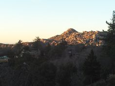 The view of the Pinnacles in the San Bernardino Mountains.