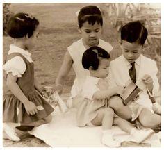 King Bhumibol and his wife Queen Sirikit have four children : ★ ★ ★ ★ ... 1.Princess Ubolratana Rajakanya  2.HRH Crown Prince Maha Vajiralongkorn. 3.HRH Princess Maha Chakri Sirindhorn. 4.HRH Princess Chulabhorn Walailak.