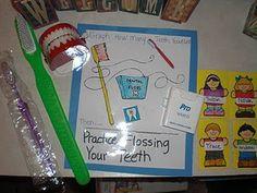 Crafts, books, games, writing, math and science! Dental Health Month, Oral Health, Health And Nutrition, Dental Hygiene, Dental Care, Dental Teeth, Kids Daycare, 4 Kids, Health Unit