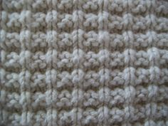 Ridge Stitch    (picture shown was knit on size 6 knitting needles)        (worked in multiples of 3)     Worked Flat:     Row 1: knit al...