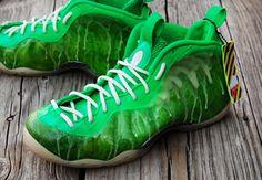 "Nike Air Foamposite One ""I've Been Slimed"" Customs by GourmetKickz - SneakerNews.com"
