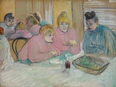 Henri de Toulouse-Lautrec, The Ladies in the Dining Room, 1893