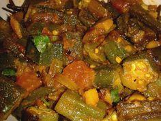 Recipe: Bhindi Sabji (Indian Okra Vegetable) Image no. Vegetarian Barbecue, Going Vegetarian, Barbecue Recipes, Oven Recipes, Vegetarian Cooking, Asian Recipes, Vegetarian Recipes, Cooking Recipes, Ethnic Recipes