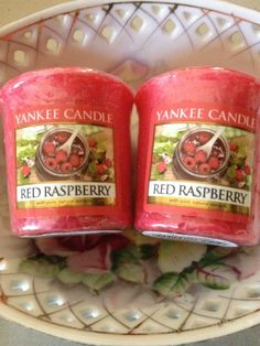 Yankee Candle Set of 2 Votives Red Raspberry New Spring Fragrance 2015 #YankeeCandle
