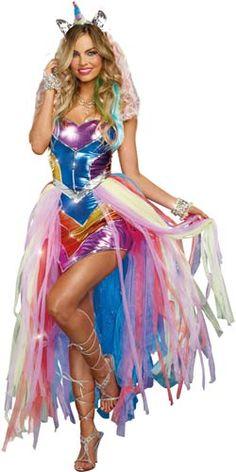unicorn costume adult   Unicorn Fantasy Adult Costume