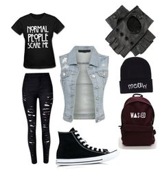 """""""Untitled #2"""" by nathalie-egeberg on Polyvore featuring Converse, Black and Boohoo"""