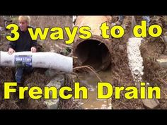 French Drain, How it works with 3 different materiels - YouTube
