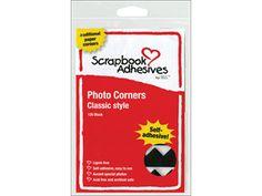 Classic Style Paper Photo Corners .5 Self Adhesive 108/Pkg-Black
