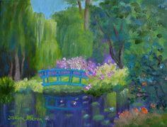 Tami Baron - Monet's Garden - Oil on canvas 9x12