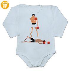 K.O. Pixels Baby Long Sleeve Romper Bodysuit Extra Large - Baby bodys baby einteiler baby stampler (*Partner-Link)