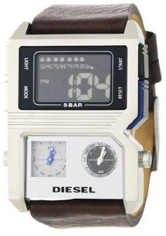 Diesel Men's DZ7174 Brown and Silver Advanced Analog-Digital Black Dial Watch: Watches: Amazon.com